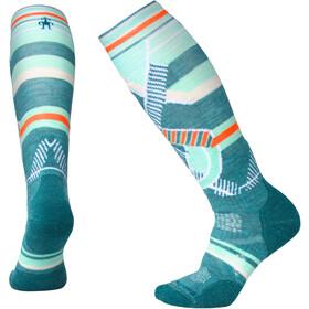 Smartwool PhD Ski Medium Pattern Socks Damen mediterranean green